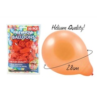 20pce x ORANGE - Premium Helium Balloons/Baloon. Great for All Parties.