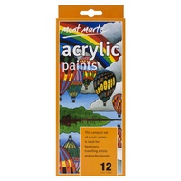 Mont Marte 12pce Acrylic Paints 12ml