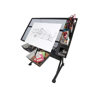 Mont Marte Creative Art Station, Made with High Quality Steel & Iron with Glass Surface