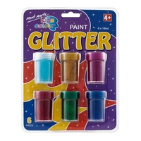 Mont Marte Kids Colour Glitter Paints 6pce