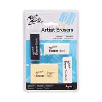 Mont Marte Artists Eraser Pack 4pce