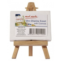 1pce Mont Marte Mini Display Easel with Canvas 6cmx8cm