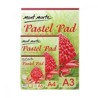 1pce Mont Marte Pastel Pad 190gsm 12 Sheets Acid-Free in 4 Colours Paper, A3 A4 A5