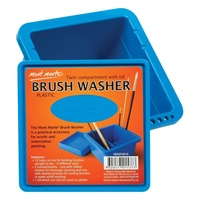 Mont Marte Brushwasher Twin Compartment Square plastic