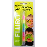 Mont Marte Face Painting Crayons - Fluro