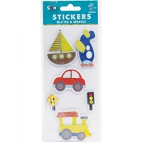 Mont Marte Scrapbooking Stickers - Handmade Minis Transport 6pce For Scrapbook Craft