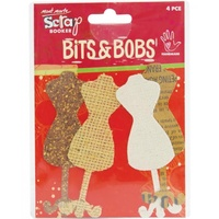 Mont Marte Scrapbooking Bits & Bobs - Mannequin 4pce For Scrapbook Craft