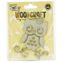 Mont Marte Scraping Woodcraft - Chipboard Owl 1pce For Scrapbook Craft
