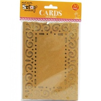 Mont Marte Scraping Cards - Kraft Swirl Edge Cards 10pce