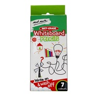 Mont Marte Wet-Erase Whiteboard Pencils 7pce - Write on and wash off