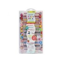 Mont Marte Kids Pencil and Eraser Set 48pce Fruit and Animal Rubbers
