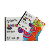 1pce Mont Marte MM Painting Pad A3 & A4 25 Sheets