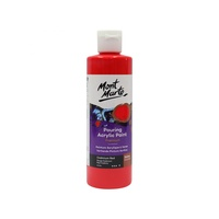 Mont Marte Pouring Acrylic 240ml - Cadmium Red for Fluid Art