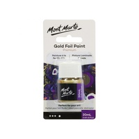Mont Marte Gold Foil Paint 20ml Pouring Paint Range for Fluid Art