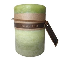 7x10cm Scented Twilight Rustic Pillar Candle - Passion Fruit