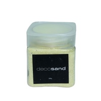 1pce Yellow 300g Deco Sand Coloured Tub with Screw Lid Display Craft