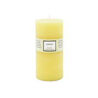 Premium 6.8cm x 14cm Lemon Citrus Essential Oil Scented Candle