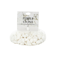 1kg White Marble Stones Tumbled 8-12mm in Bag Great for Plants & Candle Displays
