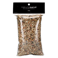 New 1pce Natural Coloured Sand 3-4mm in Bag 900g Decorative