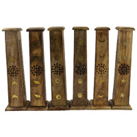 Incense Tower Design for Sticks or Cones with Brass Inlay - Design Selected at Random