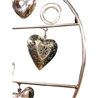 38cm x 39cm Metal Heart with 8 Pressed Metal Hearts and Coils For Photos