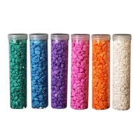 1pce 700g Tube of 1-2cm Coloured Rocks / Gravel for Home Décor
