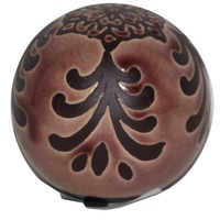 1pce 8X7.5cm Ceramic Deco Ball With Vintage Style Designs