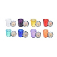 1pce Scented Candle in Coffee Glass Nice Bright Colours 7x6cm