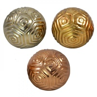 1pce 10cm Metallic Ceramic Deco Ball with Beauiful Modern Circle Inspired Design - OD3176