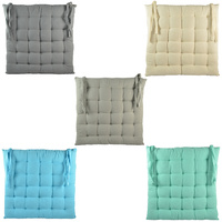 1pce 40cm Cotton Quilted Chair Pad Hamptons Style Colour
