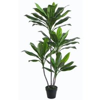 New 1pce 135cm Dracaena Dragon Tree Artificial Plant Green Realistic in Pot