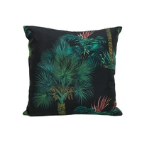 45cm Tropical Style Polyester Cushion in Modern Retro Deep Tones