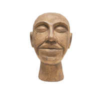 1pce 30cm Smiling Joe Brown Statue Resin Head Designer Décor