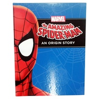 "Marvel Superheroes ""An Origin Story"" Hardcover Book A4, Kids Reading & Fun Comics-Spiderman"