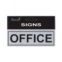 OFFICE Steel Sign Black / Silver 18X5.5cm S005