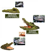 1pce Floating Crocodile Head Realistic Great for Keeping Ducks and Birds Away 2 Designs
