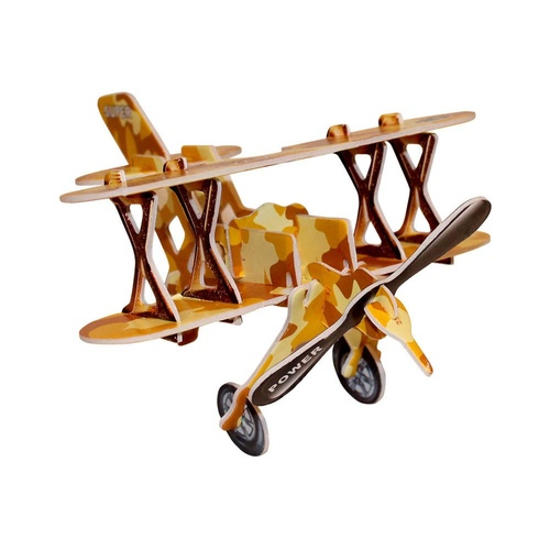 Kids 3D Orange Bi-Plane Puzzle, Educational and Fun, Thinking Puzzles MQ009
