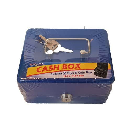 1pce Metal Petty Cash Draw - 15x11x8cm - Blue