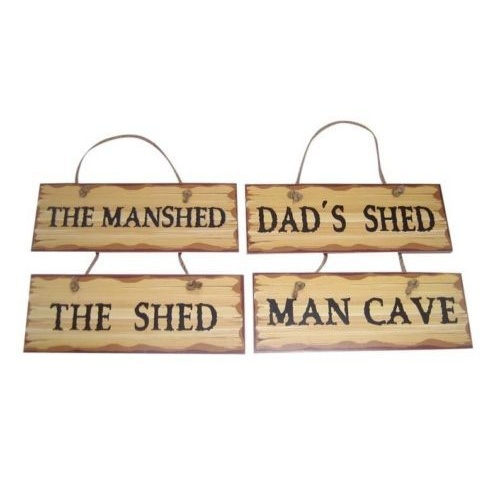 "33x12cm Man Cave Sign / Plaque with Wording ""MAN CAVE"" Hanging"