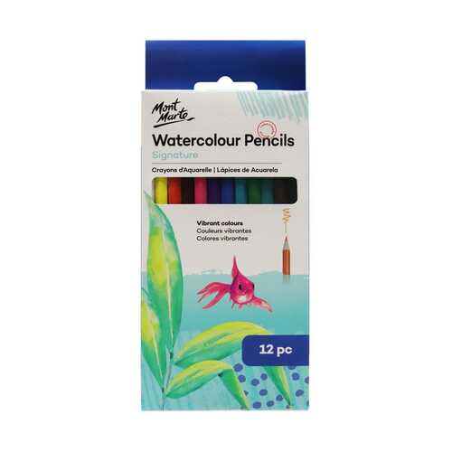 Mont Marte Watercolour Pencils 12pce